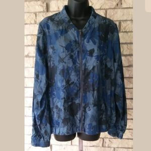 Juicy Couture Chambray Floral Bomber Jacket